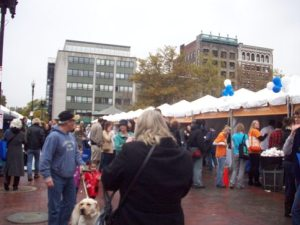 Vendors and exhibits at the 2009 Boston Book Festival