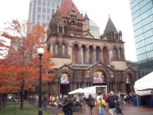 Trinity Church, and the crowd at the Boston Book Festival