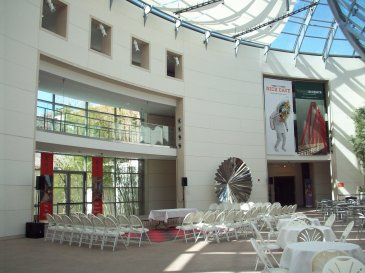 The atrium inside the Peabody Essex Museum. ©2013 Sara Letourneau