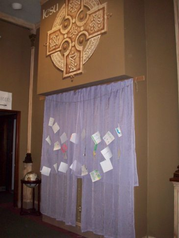 A prayer wall inside The Gathering, where the Soul-Lit panel was held ©2013 Sara Letourneau