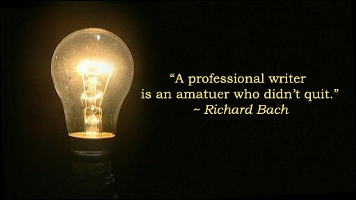 Richard Bach and lightbulb