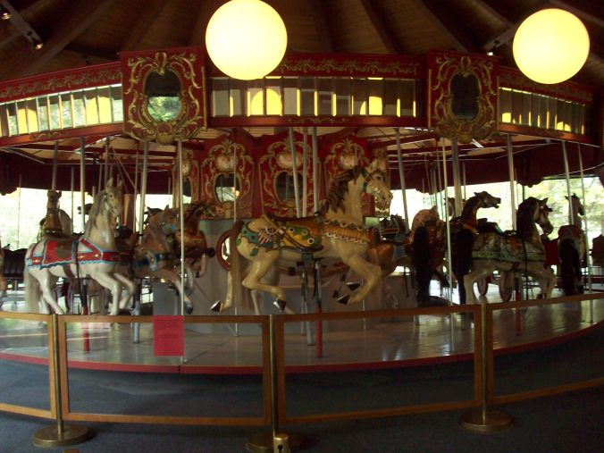 The vintage carousel