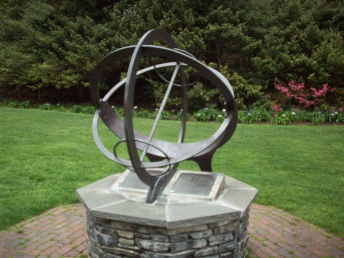 A sundial in the Donald Marvin Daylily Garden