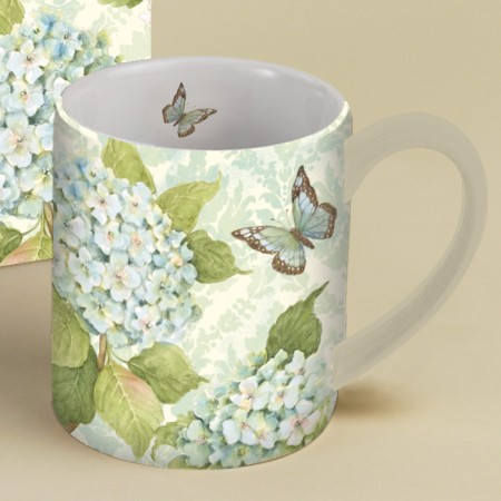 Blue Hydrangea Lang Mug