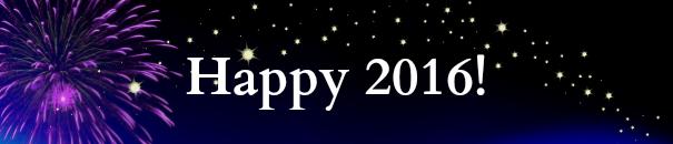 Happy 2016 logo