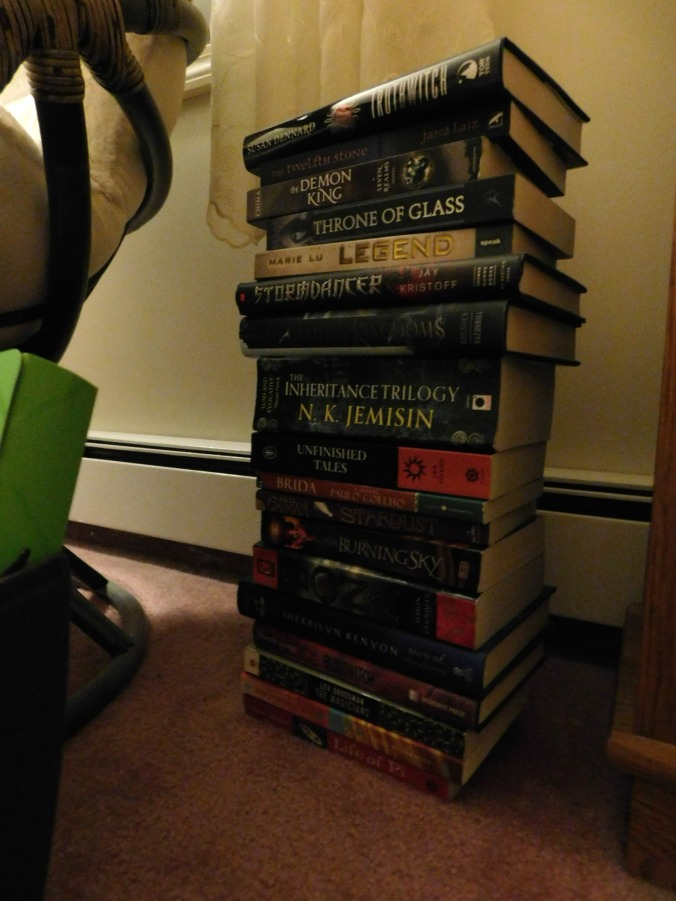 Leaning Tower of Books 01