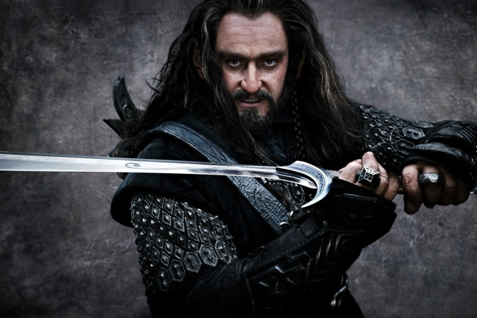 Aurek sort of looks like Thorin Oakenshield, though quite a bit younger - and taller!