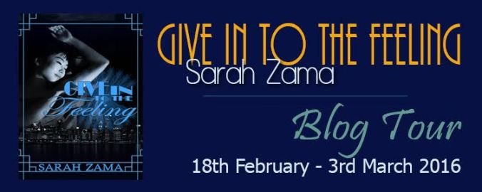 Give Into The Feeling Blog Tour banner
