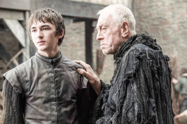 Isaac Hempstead Wright as Bran Stark and Max von Sydow as the Three-Eyed Raven. From one of Bran's visions. Photo credit: Helen Sloan/HBO